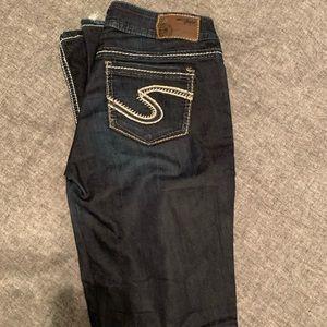 Silver Suki Dark Jeans